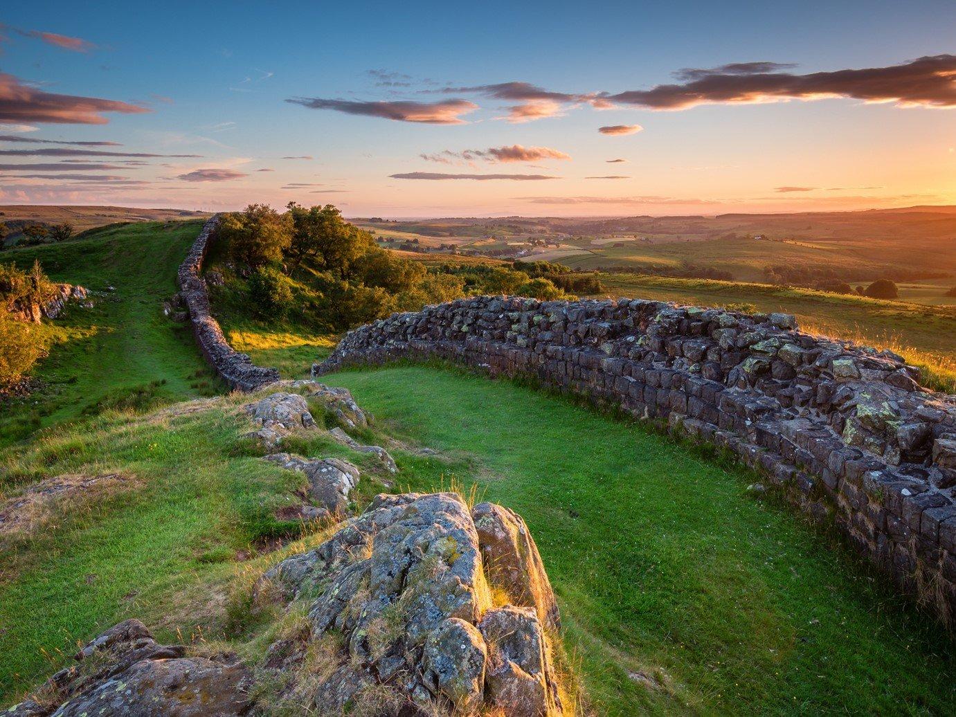 ancient roman ruins Hadrian's wall