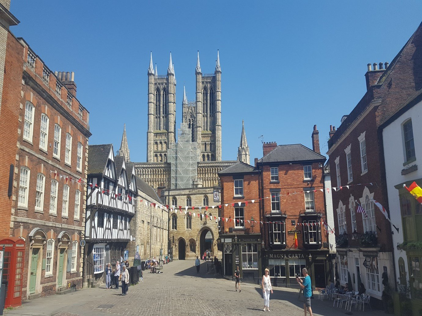 Lincoln cathedral market square