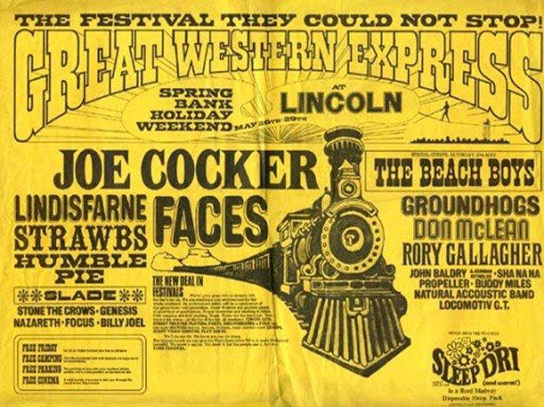 Music festival Poster Joe Cocker 70's bands